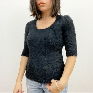 Anthropologie Sweaters - Anthropologie Knitted & Knotted Fuzzy Sweater